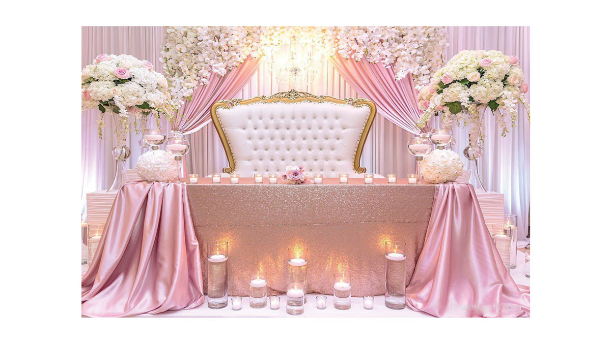 اصول گل آرایی در جشن عروسی